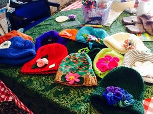 flowery hats